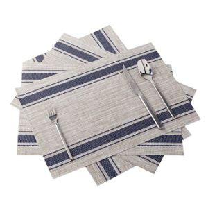 Heat Resistant Woven Vinyl Table Mat Hotel Placemat Tablemat