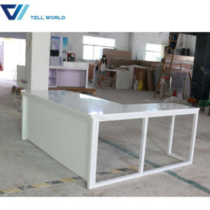 Marble Stone Top Two Sided Office Furniture Computer Manager Office Desk White Simple Office Table pictures & photos