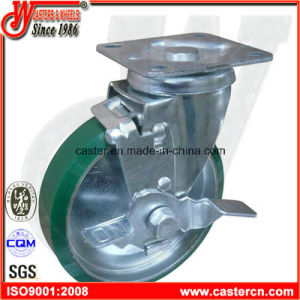 6 Inch Japanese PU Swivel Caster Wheels with Brake pictures & photos