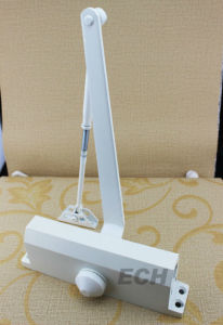 White Aluminum Door Closer (DEC-073)