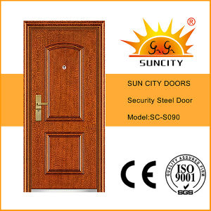 Surface Finished Wrought Iron Front Steel Door (SC-S090) pictures & photos