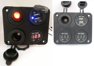Multi USB Charger Socket/Voltmeter/LED Rocker Switch/Control Car Power Socket pictures & photos