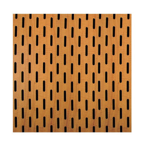 Pine Eco-Friendly MDF Ceiling Decorative Panel for Theater pictures & photos