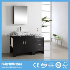 American Style Deluxe Classic Solid Wood Vanity Bathroom Furniture with Side Cabinet (BV150W)