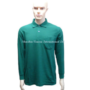 Long Sleeve Polo Shirt for Men pictures & photos