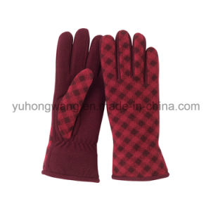 Lady Warm Single Layer Polar Fleece Printing Gloves/Mittens