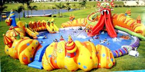 Powerful Durable PVC Children Inflatable Pool with Slide, Water Park Playground D2037 pictures & photos