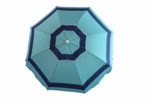 6.5FT Beach Umbrella, Fibreglass Rib and Alu Pole, Polyester Umbrella, Waterproof Umbrella