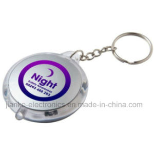 Promotional Flashing LED Torch Keyring with Logo Printed (4066)