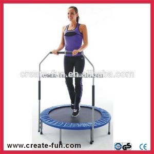 Createfun Adult Indoor Mini Fitness Trampoline with Handle