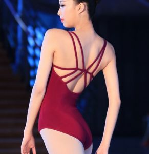 Wine Red/Burgundy Adult Cotton Spandex Ballet Dance Leotard pictures & photos