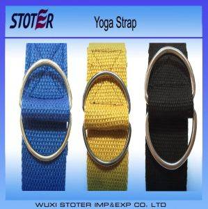 Cotton Yoga Belt with Cinch Buckle Resistance Bands