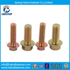 High Quality Color Zinc Plated Hex Flange Bolts pictures & photos