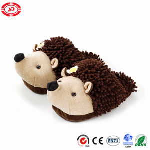 Mop Plush Material Hedgehog Brown Kids Gift Slipper Shoe pictures & photos