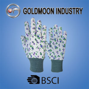 Colorful Dotted Gardenging Safety Work Glove pictures & photos