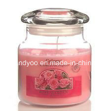 Pink Scented Soy Glass Jar Candle