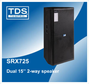 Loudspeaker 2X15′′ Cabinet (SXR725) with Durable Black Hard Point Finish pictures & photos