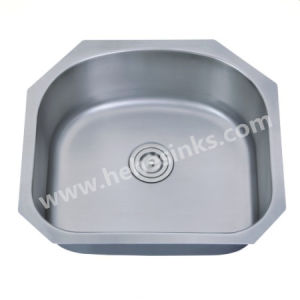 American Style Single Bowl Stainless Steel Kitchen Sink with Cupc Approved (6054A) pictures & photos