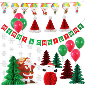 Christmas Party Decorations.Umiss Paper Bunting Paper Ball For Christmas Party Decoration Set