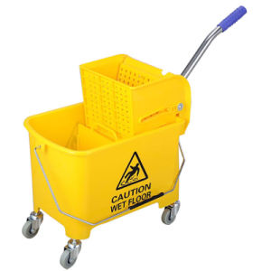 Large Capacity Hotel Double Mop Wringer Trolley pictures & photos