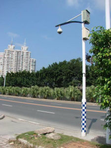 Galvanized Steel Street Camera Pole