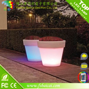 Modern Planter Pot Large Vase LED Light Base
