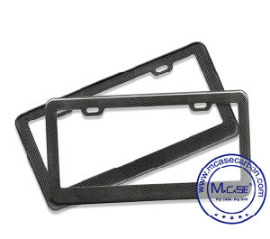 American Universal Top Quality 100% Pure Carbon Fiber Car License Plate Frame pictures & photos