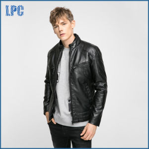 Wholesale Mens Motorcycle Genine Leather Jacket pictures & photos