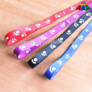 Hot-Sale High-Quality Dog-Feet Printed 20mm Polyester/Nylon Leash & Adjustable Collar pictures & photos