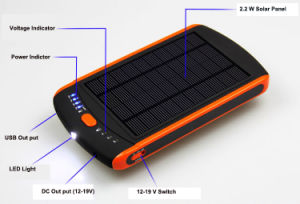 23000mA Solar and Li-Polymer Power Bank for Laptop and Mobile