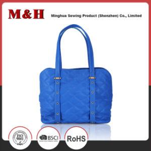 Genuine Leather Large Capacity Portable Blue Designer Handbags