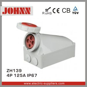 IP67 4p 125A Surface Mounted Industrial Socket pictures & photos