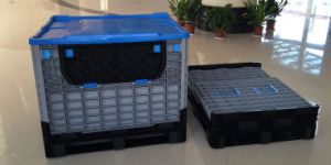 China High Quality Plastic Collapsible Pallet Container for Storage Manufacturer pictures & photos