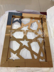 Construction Building Folding Screen Room Divider Screens for Dubai Metal Work Project