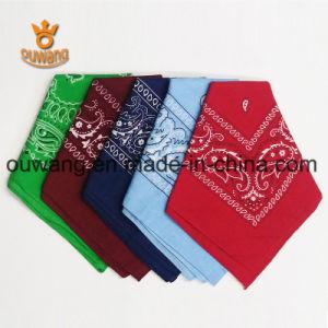 "Fashion Paisley Handkerchief Multifunctional Magic Bandana 100% Cotton 22""*22"" Customized Promotional Gift"