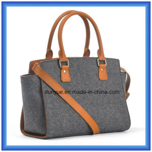 Young Design Wool Felt Casual Messenger Shoulder Bag, Hot Promotion Shopping Carrier Handbag with Adjustable Belt and Comfortable Handle