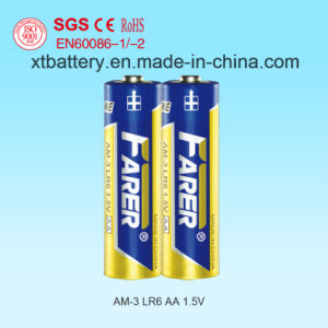 1.5V Farer Super Alkaline Dry Battery (Lr6 AA, Am-3) pictures & photos