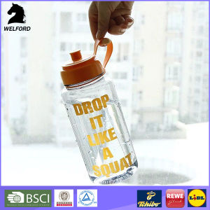 2016 BPA Free 1L Plastic Sports Water Bottle with Screw Cap and Suction Nozzle