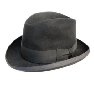 Pure Wool Felt Men Homburg Hat