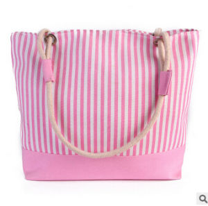 Fashion Women Canvas and PU Leather Beach Bag (BDX-161061) pictures & photos