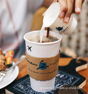 Qatar Disposable Ripple Wall Wrap Cold Hot Coffee Paper Cups pictures & photos