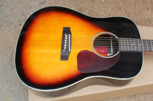 Hanhai Music/J45 41′′ Acoustic Guitar with Top Picea Asperata Solid pictures & photos