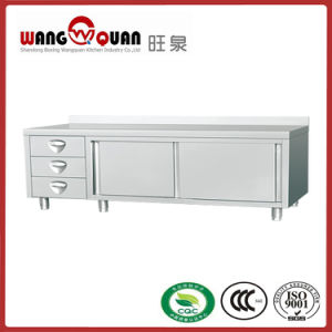 Single Swing Door Stainless Steel Worktable with 3 Drawer pictures & photos