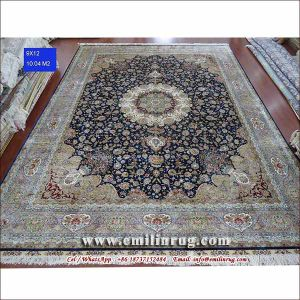 Hand Knotted Silk Area Rug Carpet