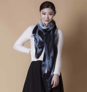 Digital Printed Water Soluble Wool Scarf pictures & photos