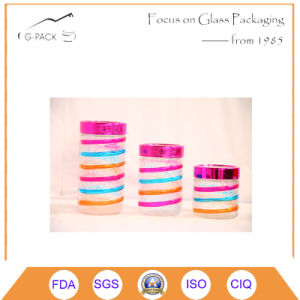 Set of 3 Colorful Glass Canister with Decoration pictures & photos