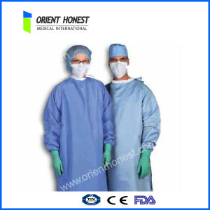 Disposable SMS Surgical Gown with Knit Cuffs