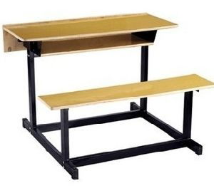 Double School Desk and Bench, Guangzhou School Furniture (SF-07D) pictures & photos