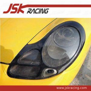 Carbon Fiber Headlights Cover Eyebrows Eyelids for Porsche 996 911 Boxster  986 (JSK230111)