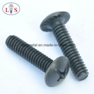 Cross Recess Truss Head Machine Screw Bolt with Flange pictures & photos